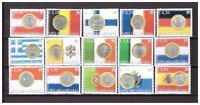s26872) VATICANO 2004 MNH** Euro coins and flags 15v