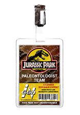 Jurassic Park Paleontologist ID Badge Card Cosplay Film Prop Comic Con Halloween