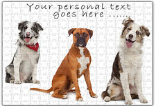 Personalised Dog Jigsaw Puzzle  Add any Name and Text - ILVP 1006 - 4 Designs