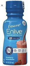 Ensure Enlive Nutritional Shake, Strawberry, 8 Ounce, Abbott 64281 - Case of 32!
