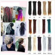 "20"" 55cm Long Afro Dreadlock Synthetic Twist Crochet Braid Dreads Hair Extension"