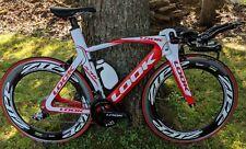 2009 LOOK 596 Triathlon/Time Trial TT Aero Road/Racing Bike ZIPP Powertap SMALL