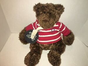 "Gund American Eagle ROSCOE TEDDY BEAR Plush 19"" AE Rugby Bag Plush Red Shirt"