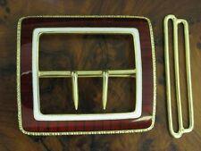ARGENTO 930 Fibbia Cintura con guarnizione in smalto/in puro argento/27,9g
