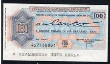 IBI IST.BANCARIO ITALIANO 1977 UNIONE COMM.VIA SPARANO BARI/PAPER MONEY FDS/UNC