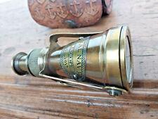 Telescope monoculaire nautique Royal Navy London 1915,laiton étui cuir