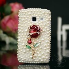Samsung Galaxy Y DUOS S 6102 Hard Case Schutz Hülle Cover Etui Perle Strass 3D