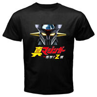 New SHIN MAZINGER Z Mecha Robot Anime Cartoon Men's Black T-Shirt Size S to 3XL