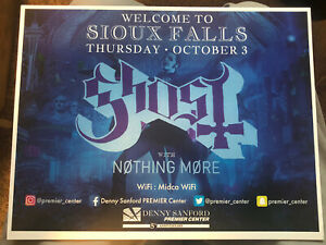 Ghost BC Sioux Falls SD 2019 Concert Small Poster