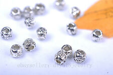 100pcs 3mm Charms beads silver plated metal bead diy jewelry Making finding 7004