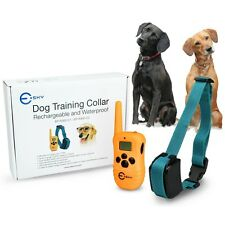 Rechargeable Waterproof LCD 100LV Level Shock Vibra Remote Dog Training Collar