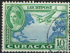 Curaçao Island Dutch Colony Aviation Aircraft over Atlantic stamp 1951