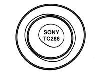 SET CINGHIE SONY TC-266 REGISTRATORE A BOBINE BOBINA NUOVE FRESCHE FORTI TC266