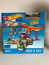Hot Wheels Rinse & Race Play Set Car Wash NEW Hotwheels 2015 Mattel Monoposto