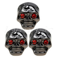 3pcs Black Skull Head Guitar Volume Tone Control Knob for Guitar replacement