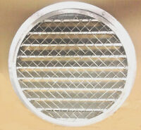 """6"""" round aluminum extruded air intake or exhaust round louver with screen"""