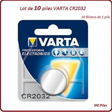 Lote de 10 pilas de botón CR2032 3V litio Varta