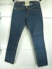 GRASS Roots Skinny Pants Stretch Blue Jeans 30 New With Tag embroidery logo