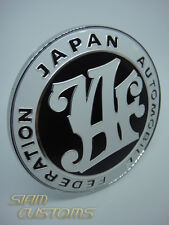 JAF JAPAN AUTOMOTIVE FEDERATION EMBLEM LOGO BLACK BADGE FRONT GRILL JDM