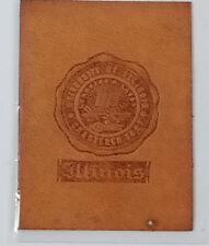 Antique Vintage Tobacco Cigarette Leather Silk University Of Illinois