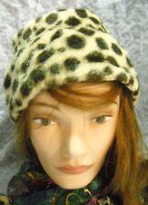 Vintage Faux Fur Leopard Print Bucket Hat