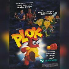 Super Nintendo SNES Tradewest PLOK (+ Battletoads) video game magazine print ad