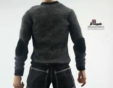 1/6 Male Black Sweater Clothes Long sleeved T-shirt For 12'' Action Figure Model