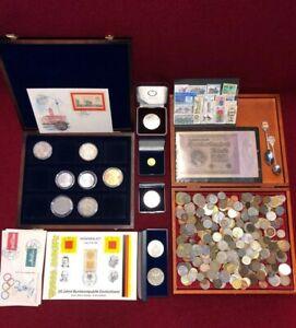 Münzen Briefmarken Numisbrief Konvolut Medaillen Lot Silber Sammlung Münzbox