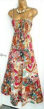 RIVER ISLAND size 14 16 multi floral stretch maxi beach dress summer holiday N