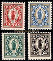 EBS Bavaria 1920 - Madonna + Child - Patrona Bavariæ - Michel 187-190 MNH**