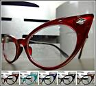 CLASSIC VINTAGE RETRO Unique CAT EYE Style Clear Lens EYE GLASSES Fashion Frame