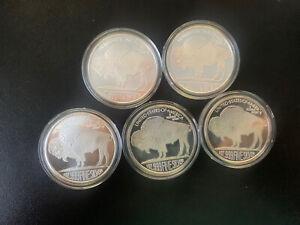 Bundle of 5x 1oz Silver Buffalo Coins #4