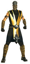 Mortal Kombat Scorpion Adult Costume Molded Armor Pieces Halloween Fancy Dress