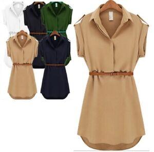 SOLID CHIFFON TOP DRESS BELT GIRLS AGE 9 10 11 12 13 14 WHITE BEIGE GREEN BLACK