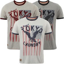 New Mens Tokyo Laundry Port Vincent Printed Short Sleeve T-Shirt Top Size S-XL