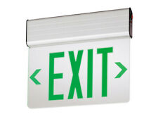 New Lithonia Lighting Edge Lit LED Exit Sign Green Battery Backup Universal