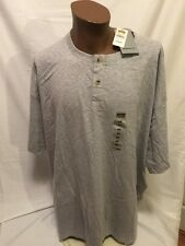 New REEBOK Men's Shirt 4XL CASUAL MALE Big and Tall Short Sleeve Grey NWT