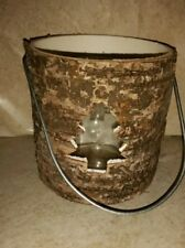 New Christmas/Winter Rustic Bark candle holder