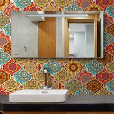 10pcs Orange Lantern Self-adhesive PVC Bathroom Kitchen Floor Wall Tile Sticker