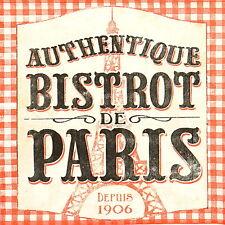 Papel 4x Servilletas Para Decoupage Artesanal Estilo Retro pub PARIS