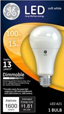 GE LED 100W Replacment Lightbulb Dimmable 1600 Lumens A21