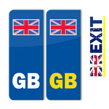 GB Union Jack Number Plate Stickers Car Van Vehicle Vinyl Printed (STKPN00004)