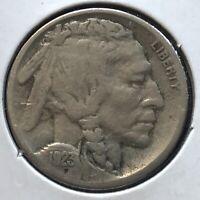 USA 1923 S Buffalo Nickel 5 Cent San Francisco Selten #12648