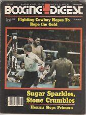 BOXING DIGEST MAG ROBERTO DURAN-SUGAR RAY LEONARD BOXING HOFer FEBRUARY 1981