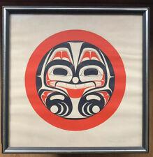 Owl Totem Screen Print Home Decor Northwest Coast Haida Formline Wall Art 9x12