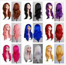 New Long Lady Costume Hair 70cm Wavy Curly Cosplay Wigs Full Wig Free shipping