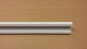 """48"""" White Aluminum Rail to Hold Scuba Tank Holders (Actual Cut Size is 47.5"""")"""