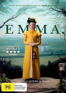 Emma (2020) DVD, NEW SEALED AUSTRALIAN RELEASE REGION 4 lot 60