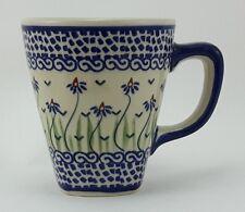Bunzlauer Keramik Tasse modern eckig - 0,2 Liter, (K092-MC15x), blau/weiß/grün