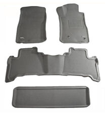 To suit Toyota Landcruiser Prado 120 series 2002 to 2009 Grey Rubber 3D Mats